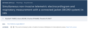 Simultaneous non-invasive telemetric electrocardiogram and respiratory measurement with a connected jacket in rats