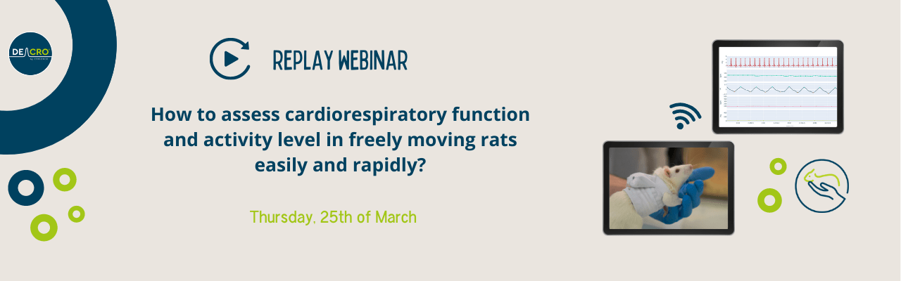 REPLAY WEBINAR – How to assess cardiorespiratory function and activity level in freely-moving rats, easily and rapidly?